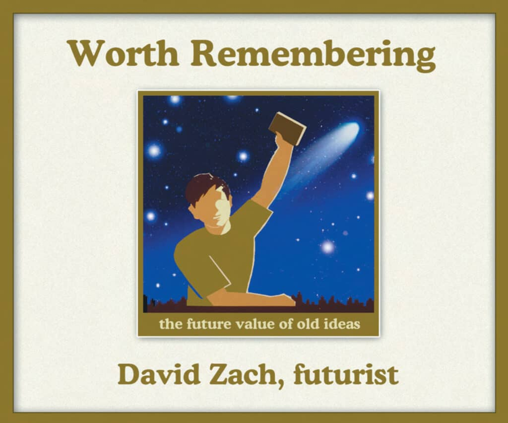 Cover for the book Worth Remembering by David Zach