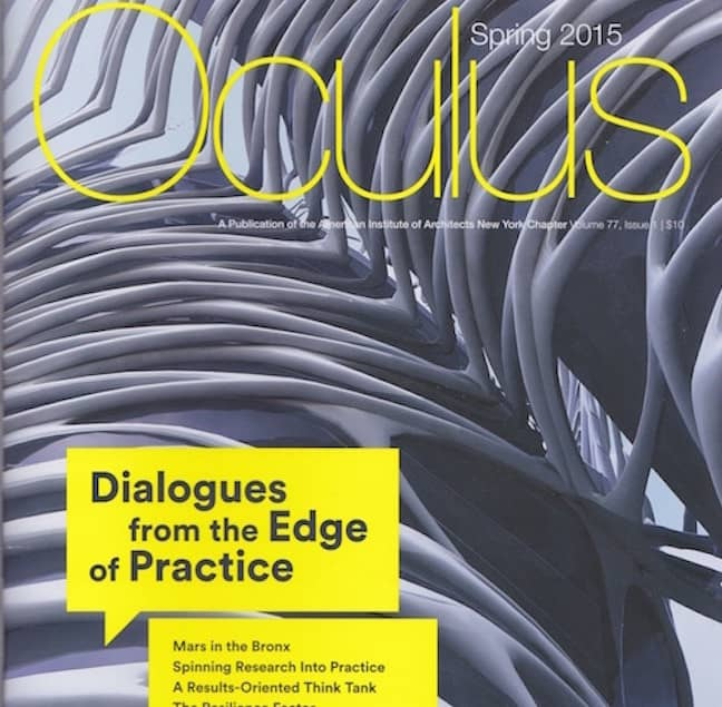 Cover Image of AIA-NYC Oculus Magazine from 2015