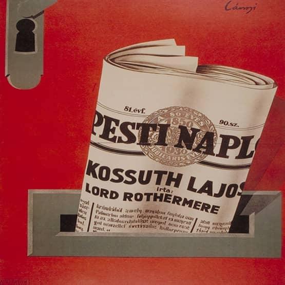 Vintage Illustration of Newspaper in Paper Slot